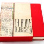 French Bible Jerusalem Box 1228-0