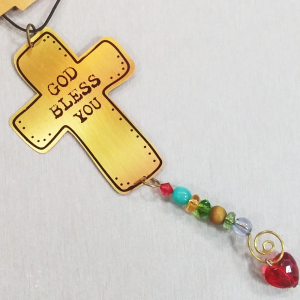 """God Bless you"" Car Charm-0"