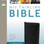 NIV Thinline Zippered Collection Bible - Black-545