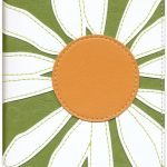 NIVThinline Bloom Collection Bible - Compact White flower design-587