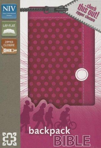 NIV Backpack Bible with zipper - Polka Pink-0