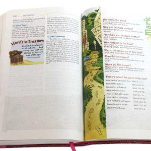 NIV Adventure Bible Pink/Green Clip Closure-1159