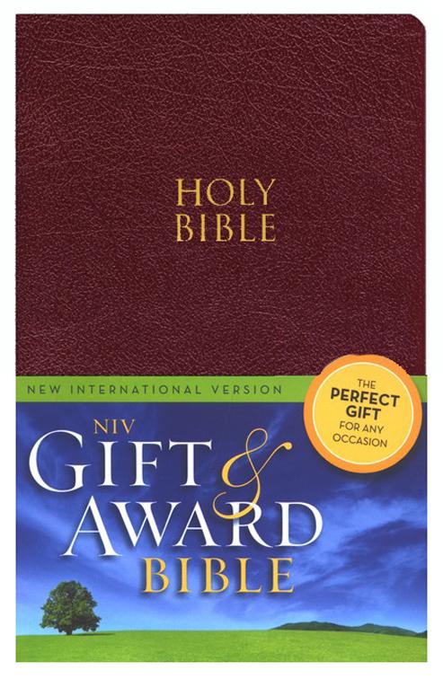 NIV Gift & Award Bible Burgundy-510