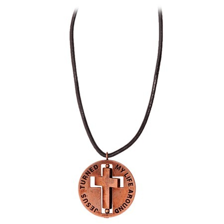 TWIRL CROSS NECKLACE-0