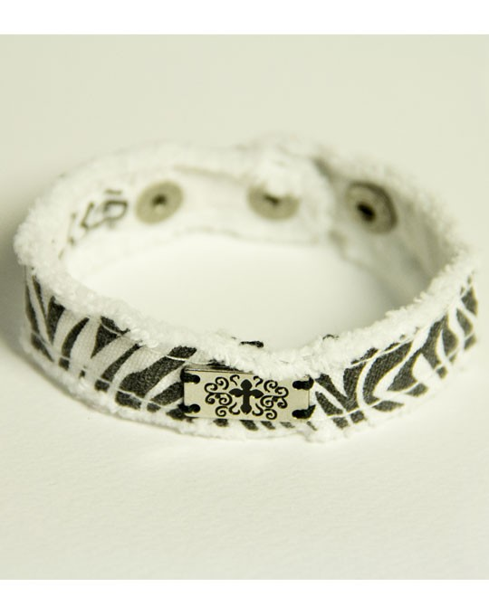 ZEBRA CHERISHED CANVAS BRACELET-0