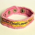 SMILE CHERISHED CANVAS BRACELET-0