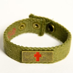 BRONZE CROSS FAITH GEAR CANVAS BRACELET-0
