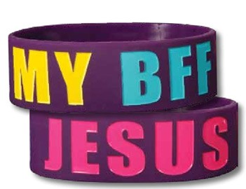 JESUS IS MY BFF WIDE SILICONE BRACELET-0