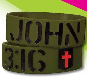 JOHN 3:16 WIDE SILICONE BRACELET-0