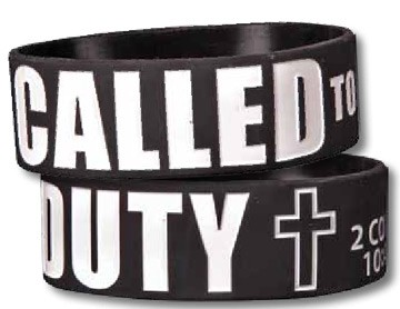 CALLED TO DUTY WIDE SILICONE BRACELET-0