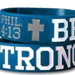 BE STRONG WIDE SILICONE BRACELET-0