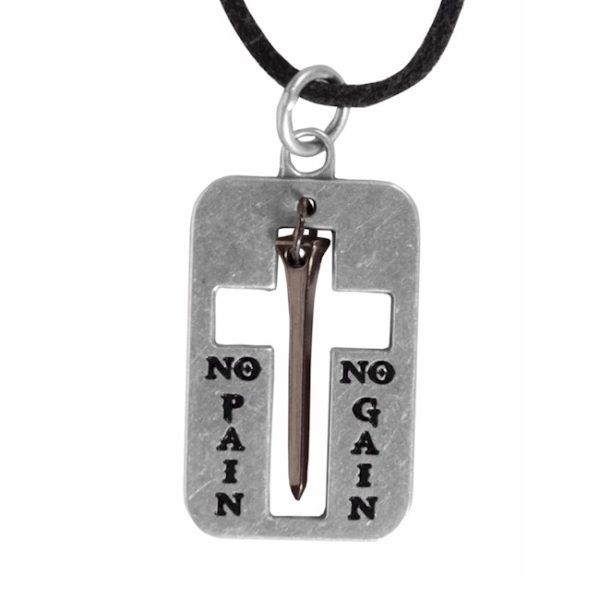 SUSPENDED NAIL FAITH GEAR NECKLACE-0
