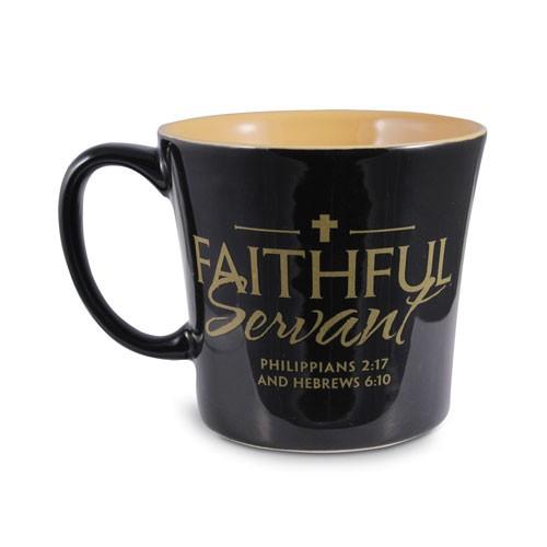 FAITHFUL SERVANT BLACK MUG-0