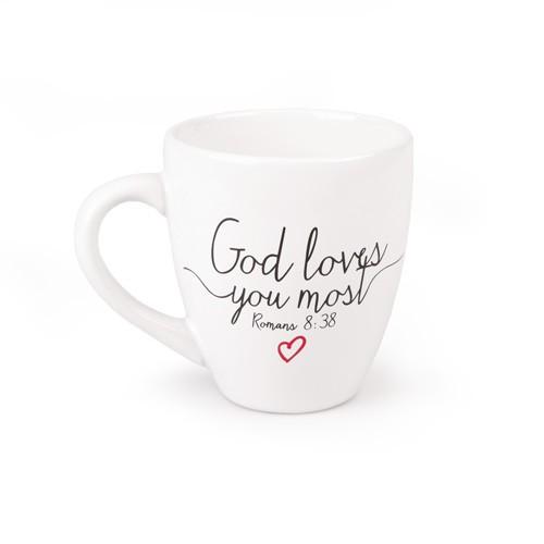 GOD LOVES YOU MOST WHITE CERAMIC MUG-0