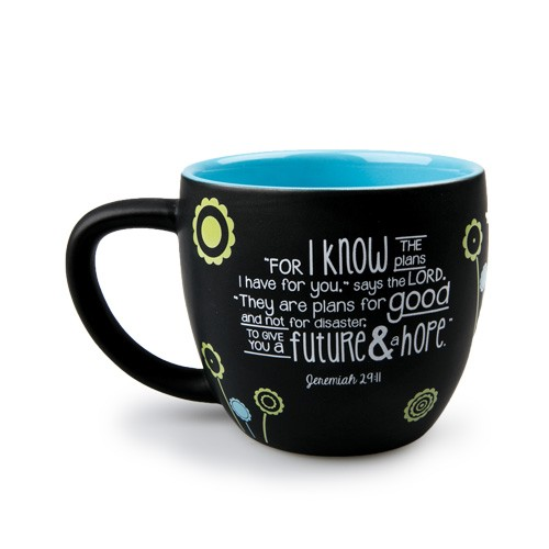 Ceramic Mug-Joy Blossoms-His Plans-0