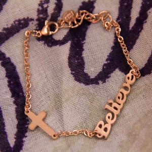 BELIEVE BRACELET ROSE GOLD-0