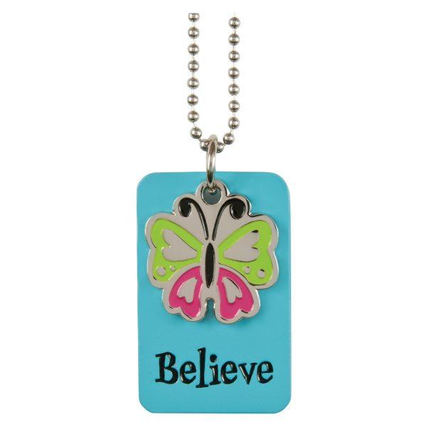 Believe Charm Necklace-0