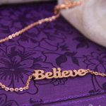 BELIEVE NECKLACE ROSE GOLD-0