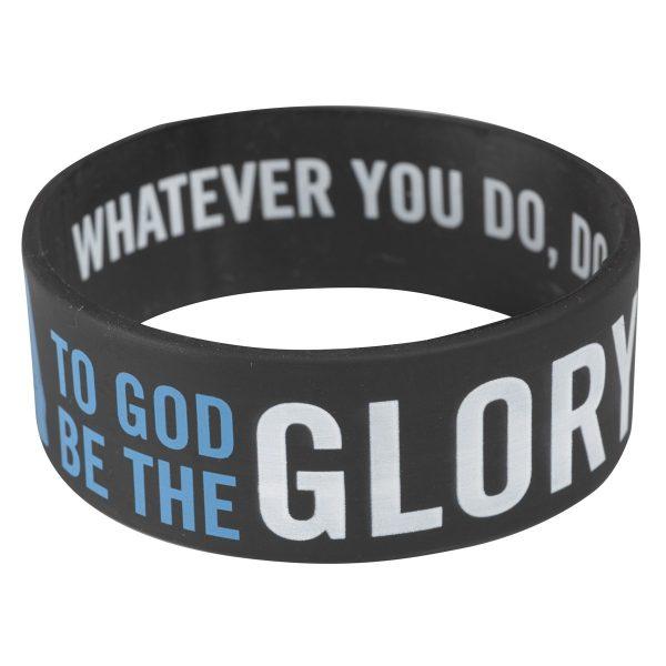 Black Wristband Glory 1 Cor 10:31-0