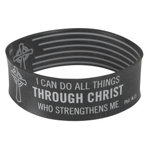 Black Wristband Phil 4:13-0