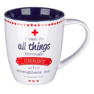 Blessings for Nurses Inspirational Mug - Philippians 4:13-0