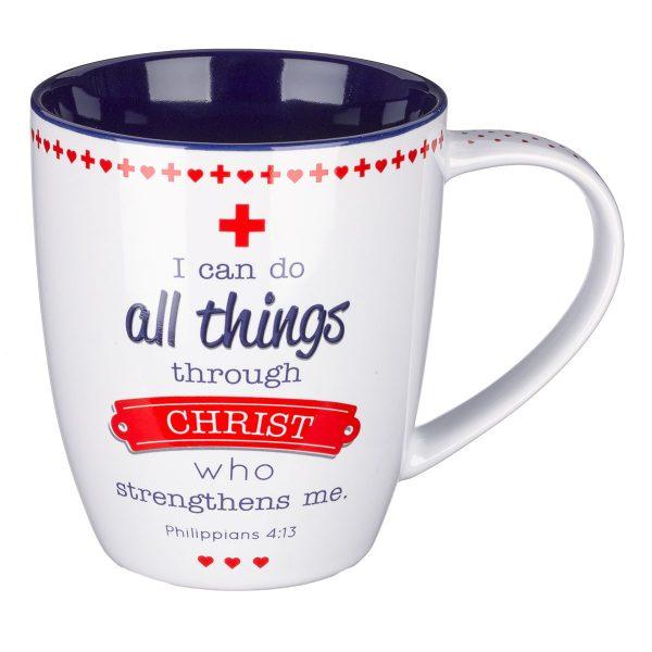 Blessings for Nurses Inspirational Mug - Philippians 4:13-0