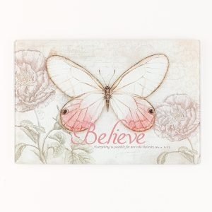 Butterfly Blessings Glass Cutting Board-0