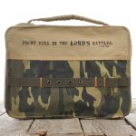 Camouflage Cotton Bible Cover Featuring 1 Tim. 1:18 (Medium)-0