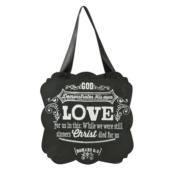 Chalkboard Collection:Love Wooden Hanging Plaque-0