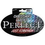 CHRISTIANS AREN'T PERFECT STICKER-0