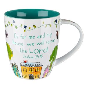 "Everyday Blessings ""Bless Our Home"" Mug - Joshua 24:15-0"