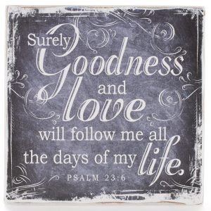 Finishing Strong Collection: Goodness & Love Small Wooden Wall Plaque-0