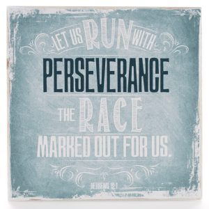 Finishing Strong Collection: Let Us Run With Perseverance Small Wooden Wall Plaque-0