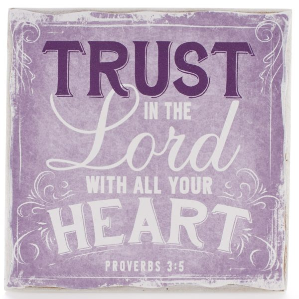 Finishing Strong Collection: Trust in the Lord Small Wooden Wall Plaque-0