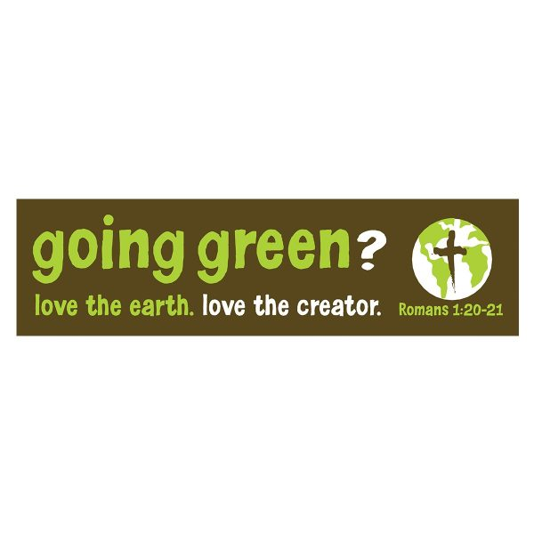 Going Green - Bumper Sticker-0