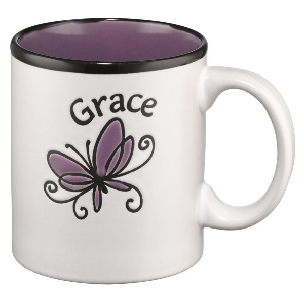 Grace (Purple Interior) Stoneware Mug-0
