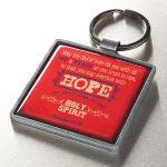 Hope Metal Keyring Featuring Rom 15:3-0