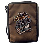 Love The Lord Your God Poly-Canvas Bible Cover (Large)-0