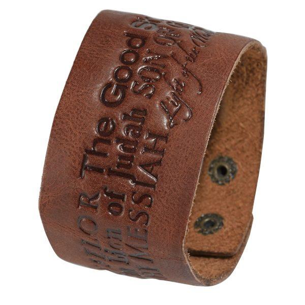 Name of Jesus Leather Wriststrap-0