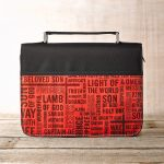 Names of Jesus Bible Cover in Black & Red (Large)-0
