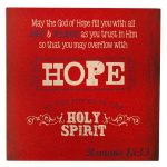 Retro Collection: Hope Wooden Wall Dec?r Plaque-0