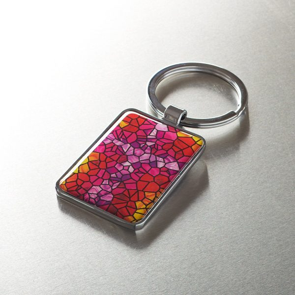 Stained Glass Motif Keyring-0