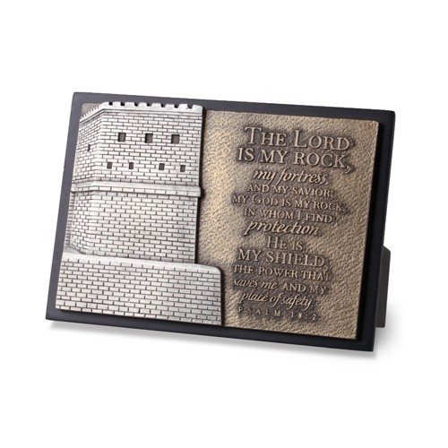 STRONG FORTRESS SMALL SCULPTURE PLAQUE-0
