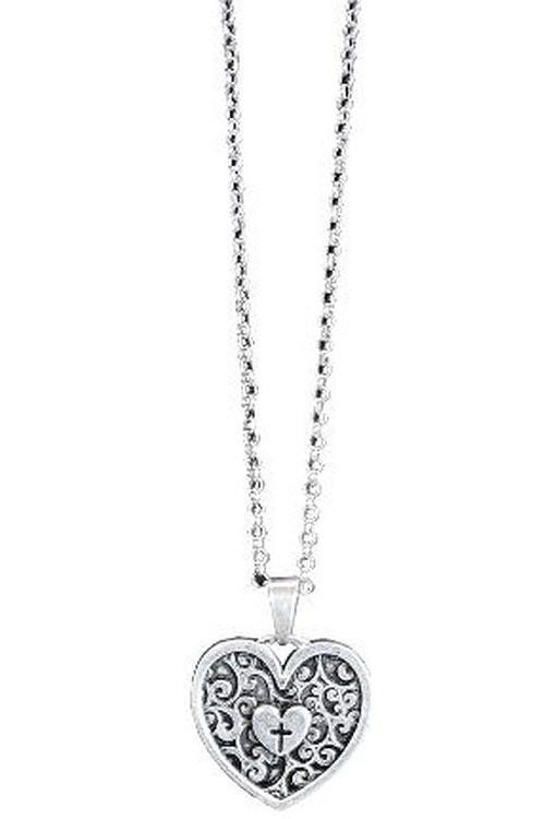 SWIRL HEART WOMEN'S NECKLACE-0