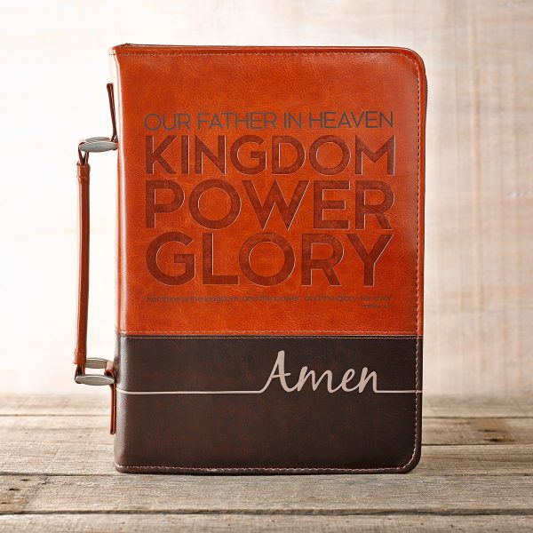 The Lord's Prayer Two-Tone Bible Cover (Medium)-0