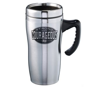 Travel Mug SS Strong & Courageous-0