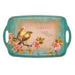 Trust in the Lord Serving Tray in Teal Featuring Prov 3:5-0