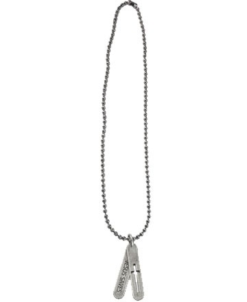 TWO TAB CROSS NECKLACE-0