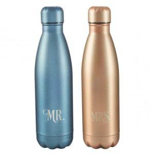 Mr & Mrs SS water bottle-0