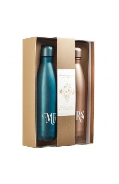 Mr & Mrs SS water bottle-5556